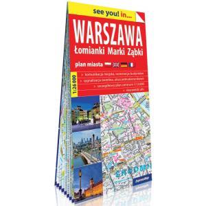 Warszawa, Łomianki, Marki, Ząbki. Plan miasta 1:26 000