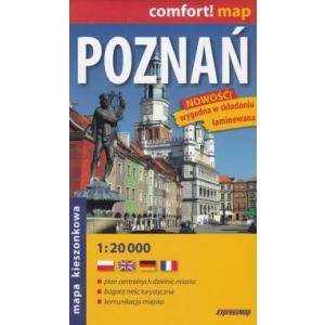 Poznań kieszonkowy laminowany plan miasta 1:20 000