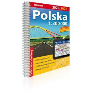 Polska atlas samochodowy 1:300 000 wyd.2020/2021