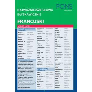 PONS Najważniejsze słowa błyskawicznie Francuski wyd. 2017