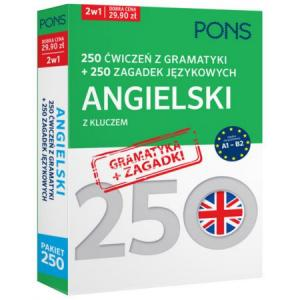 250 Ćwiczeń z Gramatyki + 250 Zagadek Językowych z Kluczem. Angielski