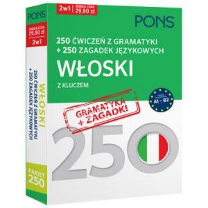 250 Ćwiczeń z Gramatyki + 250 Zagadek Językowych z Kluczem. Włoski