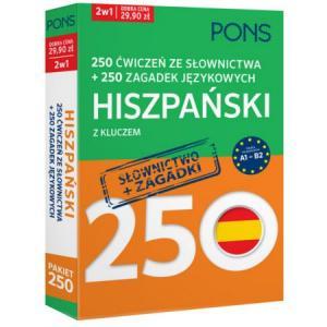 250 Ćwiczeń ze Słownictwa + 250 Zagadek Językowych z Kluczem. Hiszpański