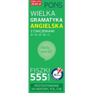 PONS Fiszki 555. Wielka gramatyka angielska. Poziom A1, A2, B1, B2, C1