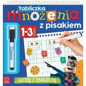 Tabliczka mnożenia z pisakiem klasy 1-3