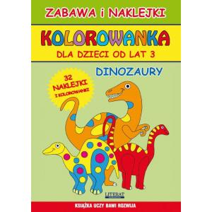 Kolorowanka dla dzieci od lat 3 Dinozaury