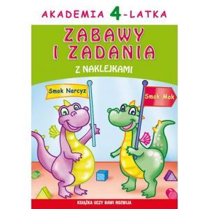 Akademia 4-Latka. Zabawy i Zadania z Naklejkami