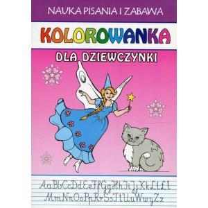 Nauka pisania i zabawa Kolorowanka dla dziewczynki