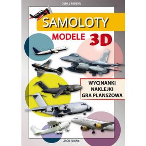 Samoloty. Modele 3D. Wycinanki, Naklejki, Gra Planszowa