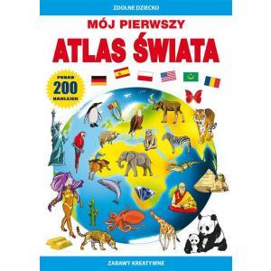 Mój pierwszy atlas świataPonad 200 naklejek.