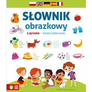 Słownik obrazkowy 5 językowy (z polskim, angielskim, niemiecki, francuskim i hiszpańskim)
