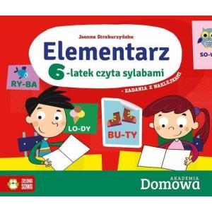 Domowa Akademia. Elementarz 6-latek czyta sylabami