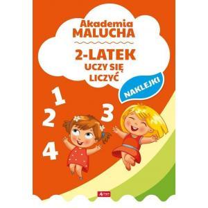 Akademia malucha 2-latek uczy się liczyć + naklejki