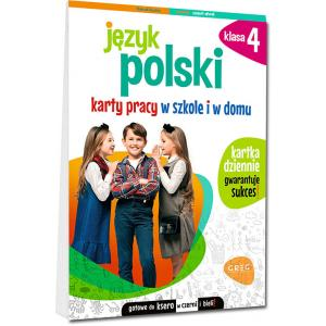 Język polski. Karty pracy w szkole i w domu. Klasa 4