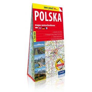See you! in... Polska papierowa mapa samochodowa 1:700 000