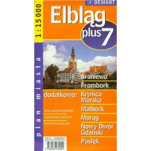 Elbląg plus 7 plan miasta 1:150 000