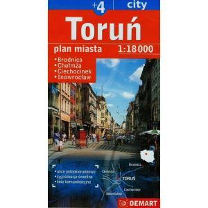 Toruń Plus 4 Plan Miasta 1:18 000