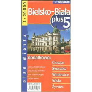 Bielsko-Biała plus 5 plan miasta