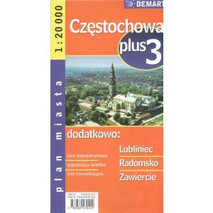 Częstochowa plus 3 plan miasta