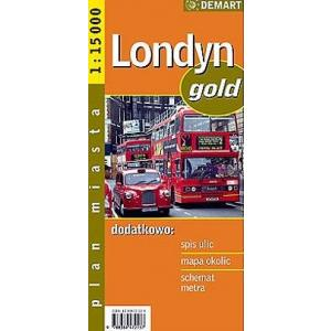 Londyn gold plan miasta 1:15 000