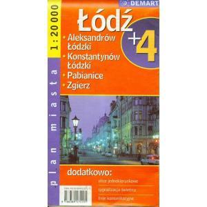 Łódź plus 4 plan miasta 1:20 000