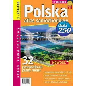 Polska atlas samochodowy skala 250