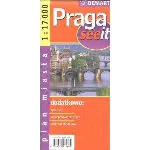 Praga seeit plan miasta 1:17 000