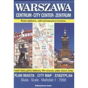 Warszawa Centrum plan miasta 1:70 00