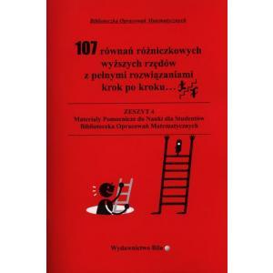 107 równań różniczkowych wyższych rzędów z pełnymi rozwiązaniami krok po kroku