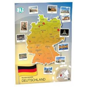 POSTER Landkarte Deutschland