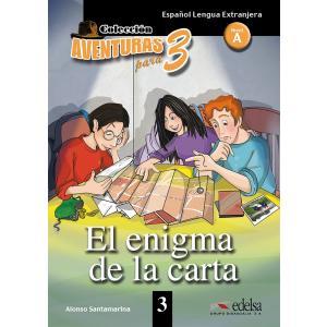Aventuras para 3. El enigma de la carta książka + audio online A1/A2