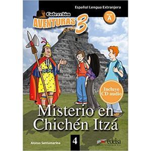 Aventuras para 3. Misterio en Chichen Itza książka + audio online A1/A2