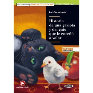 Historia de una gaviota y del gato que le enseno a volar książka + audio online A1