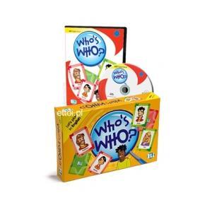 Gra językowa Angielski Who's Who? wersja tradycyjna + CD Rom