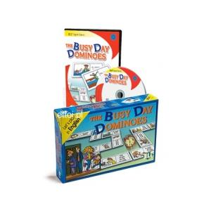 The Busy Day Dominoes. Gra Językowa. Wersja Tradycyjna + CD-ROM