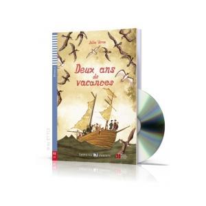 LF Deux ans de vacances książka + CD. Lectures ELI Juniors. Poziom A2