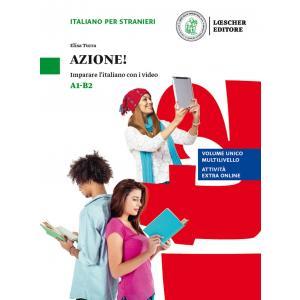Azione Imparare l'italiano con i video książka + video online A1/B2