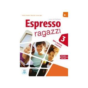 Espresso ragazzi 3 podręcznik+ ćwiczenia + CD audio + DVD
