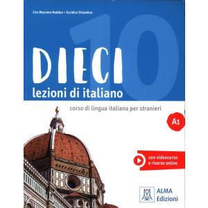 Dieci lezioni di italiano A1 książka + CD