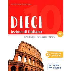 Dieci lezioni di italiano A2 książka + CD
