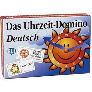 Gra językowa Niemiecki Das Uhrzeit-Domino Deutsch