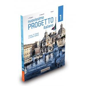 Nuovissimo Progetto Italiano 1 A1-A2. Ćwiczenia + CD