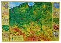 Podkład na Biurko Laminowany. Mapa Fizyczna Polski