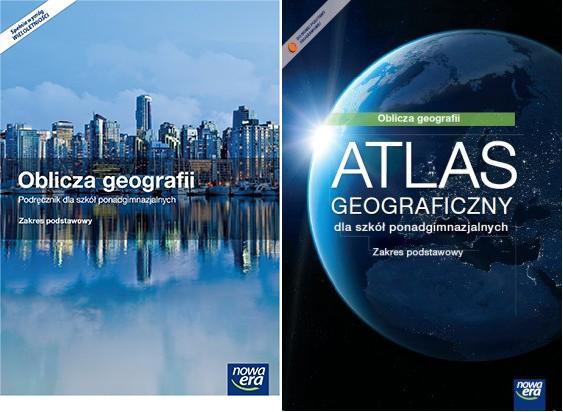 Oblicza Geografii 1. Szkoła Ponadgimnazjalna. Podręcznik + Atlas Geograficzny. Zakres  Podstawowy