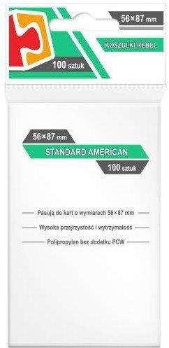 Koszulki na Karty Rebel (56 x 87 mm). Standard American 100 sztuk