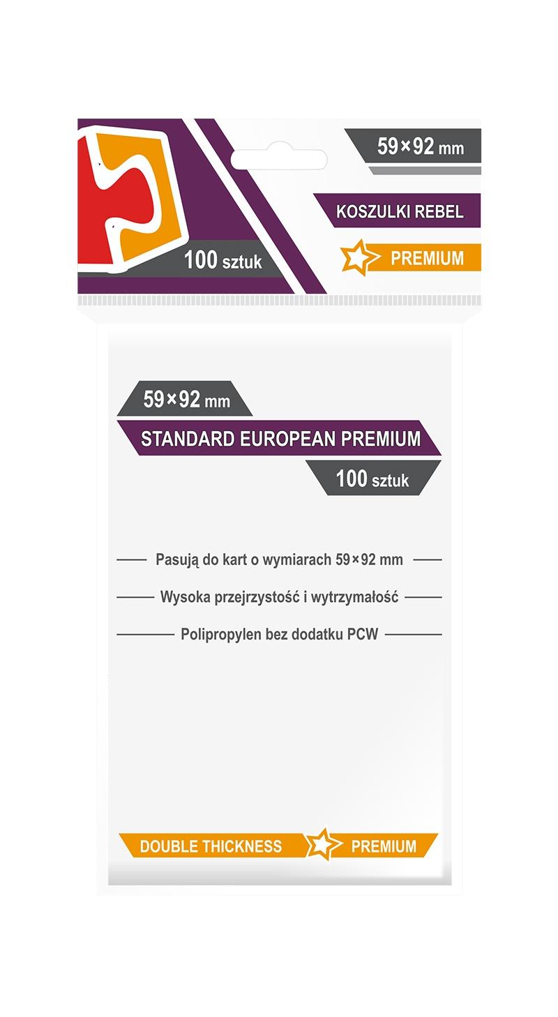Koszulki na Karty Rebel (59 x 92 mm). Standard European Premium 100 sztuk