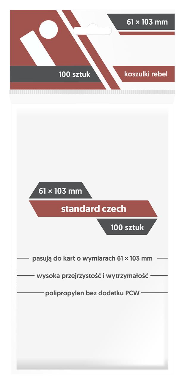 Koszulki na Karty Rebel (61 x 103 mm) Standard Czech 100 Sztuk