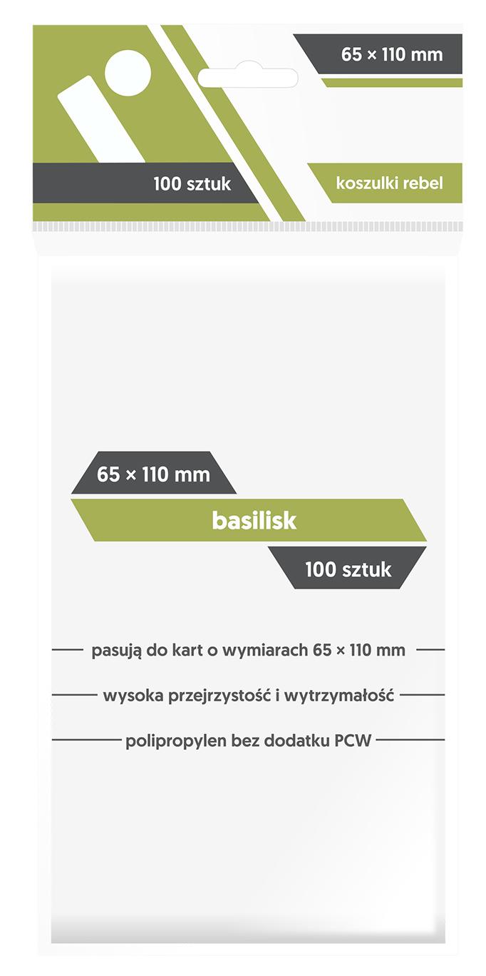 Koszulki na Karty Rebel (65 x 110 mm) Basilisk 100 Sztuk
