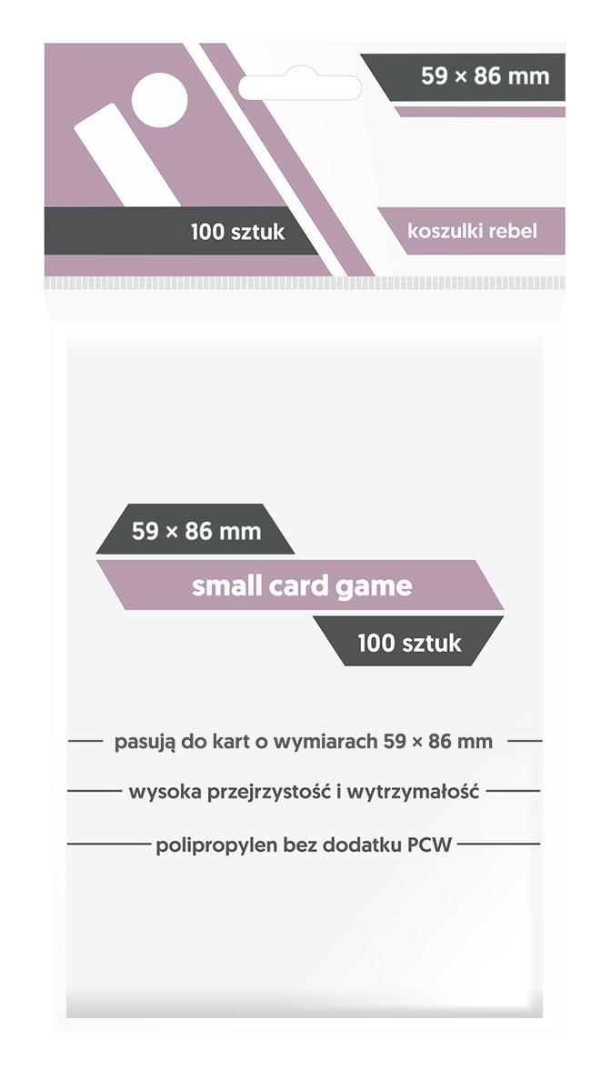 Koszulki na Karty Rebel (59 x 86 mm) Small Card Game 100 Sztuk