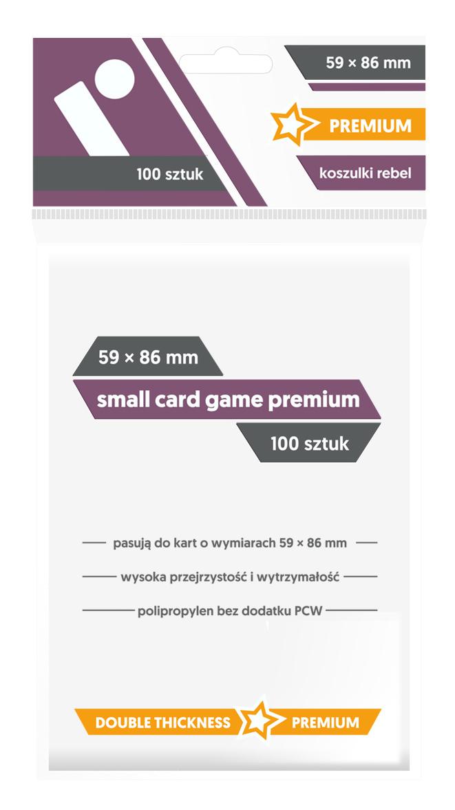 Koszulki na Karty Rebel (59 x 86 mm) Small Card Game Premium 100 Sztuk